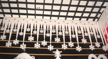 2 packs / lot Snowflake Icicle Decoration / Christmas Supplies / hotel decoration / snow fence/
