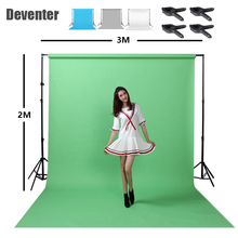 Photography background bracket 2x3M + fabric background cloth 2x3M send clip and handbag+4x Vigorously clip