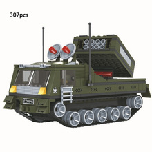 Military war rocket gun truck Air defense missile armored car building block Army Corps soldier figures bricks com.withlego.toys