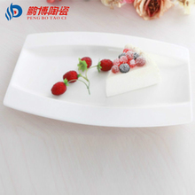 Hot Sell Export Market 12 inches Pure White Bone China Porcelain Dishes Plates For Restaurant Flat Dish Fruit Dessert Plates