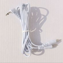 Wholesale 100 Pcs Pin 2.5mm 2in1 Head Electrode Cable Line Connector Wire For TENS/EMS Electronic Therapy Machines