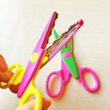 6pcs per set DIY Craft Scissors Wave Edge Craft School Scissors for Paper Border Cutter Scrapbooking Handmade Kids Artwork Card