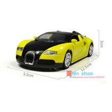 1:36 Alloy Diecast Car Collectible Models Bugatti Veyron With Sound&Light Mini Toy Cars Educational Pull Back Brinquedo Gift P65(China)