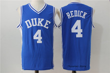 J.J.Redick JJ #4 Duke White/Blue Retro Throwback Stitched Basketball Jersey Sewn Camisa Embroidery Logos