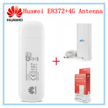 Открыл huawei E8372 + 4G антенны LTE USB Wingle LTE Универсальный 4G USB Wi-Fi модем автомобилей, Wi-Fi E8372h-608 E8372h-153(China)