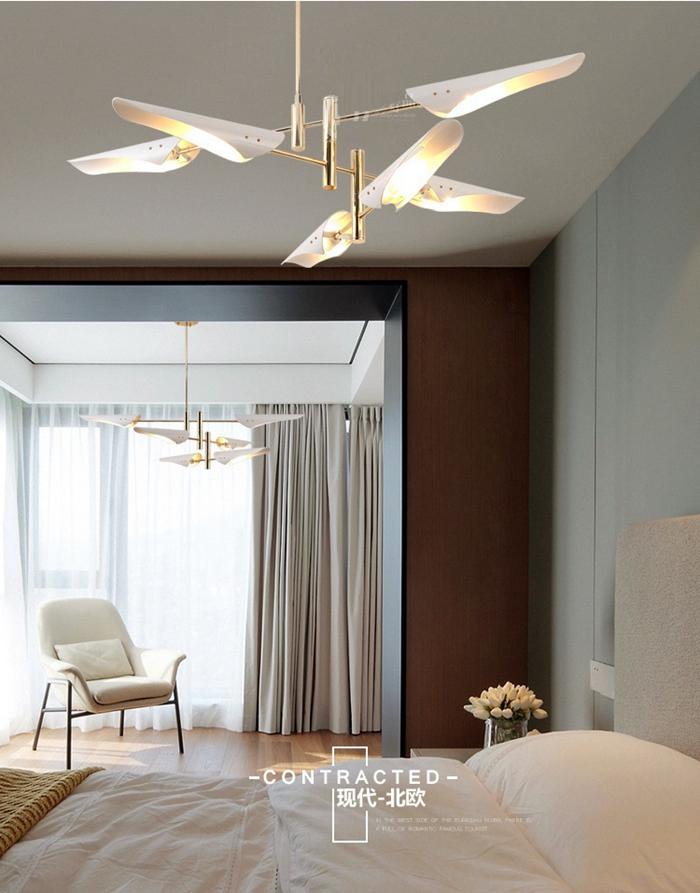 LukLoy Post Modern Metal Branch Chandelier Nordic Hanging Lamp Light Lighting Fixture Creative Personality LED Pendant Light (9)