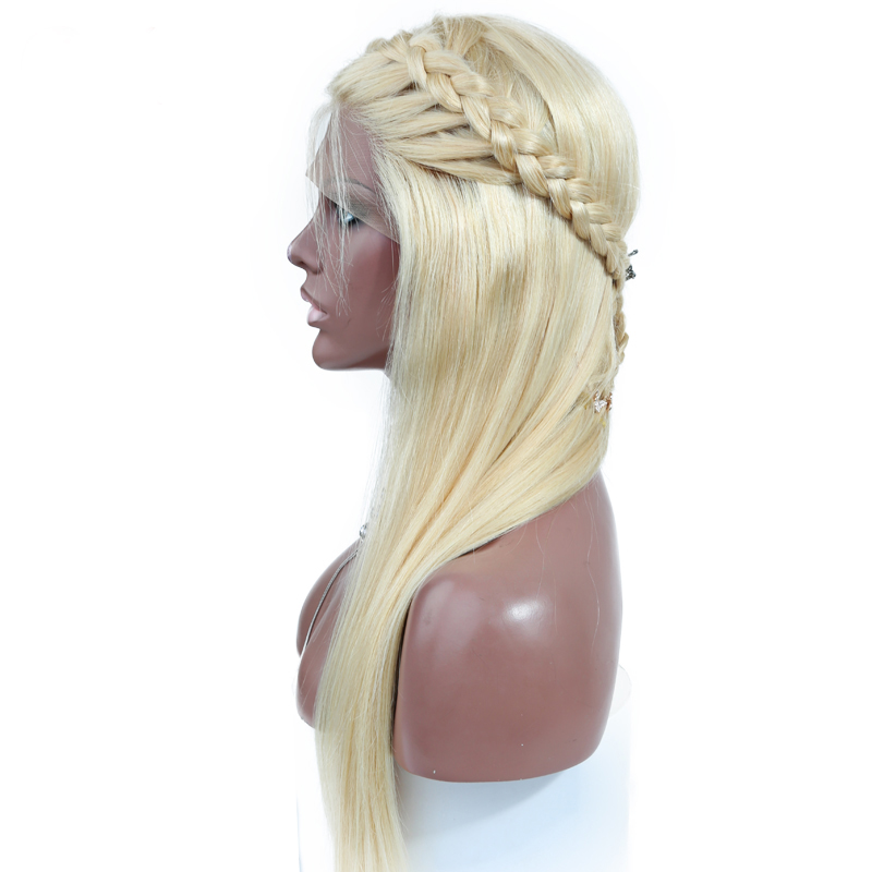 QueenKing-hair-180-Density-European-Human-Hair-Full-Lace-Wig-Blonde-613-Silky-Straight-Natural-Hairline