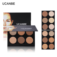 UCANBE 6 Color Face Contouring Makeup Highlighter & Bronzer Glow Kit Shading Powder Contour Palette Highlighting Blush Bronzer(China)