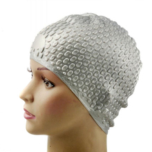 SZ-LGFM-Silicone Waterproof Swimming Cap - Silver Gray