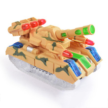 Buy Tank Toy Fighting Battle Tank Flash Electric Tank Car Toys Children Electric Light-up Model Car Child Kids Gift for $10.89 in AliExpress store