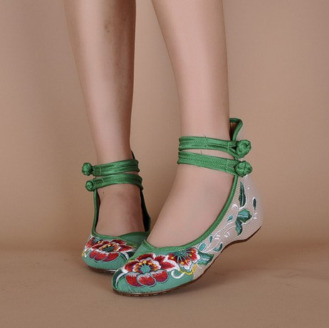 2017 Real Top Fashion Hemp Ballet Flats Women Casual Flats Chinese Flower Embroidery Shoes Oxford Shoes SMYXHX-B0005<br><br>Aliexpress