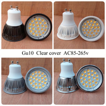 Aluminum shell 5W Led Spotlight Gu10 Mr16 Led Lamps spotlight  Gu5.3 E27 Led Bulb 12v 85-265V 24 leds SMD2835 500LM UL CE&ROHS