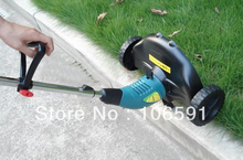 electric mower 220v/500w hand push cleaner  wheel brush grass cutter trimmer handle