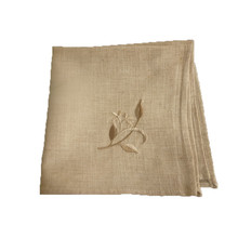 40*40cm 6 pcs/lot Embroidered handkerchief flax linen hotel party  placemat napkin
