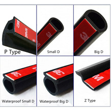 Car Door Seal Strip Big D Small D Z P Type Waterproof Trim Sound Insulation Soundproof Weatherstrip EPDM auto rubber seal Strips