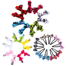 10pcs/lot Lovely Pets Hair Bow Random Color Hair Clips Headdress Puppy Dogs Cat Teddy Hairpin Accessories
