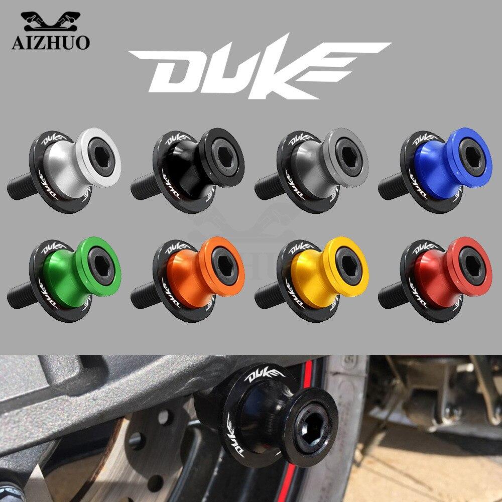 10MM Motorcycle Accessories Swingarm Sliders Spools DUKE Logo For KTM 125 Duke 2012-2015 200 Duke 2012-2015 390 Duke 2013-2015
