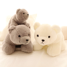 30-60cm Lovely polar bear plush toys Very soft large big white bear doll baby doll Girl's birthday present