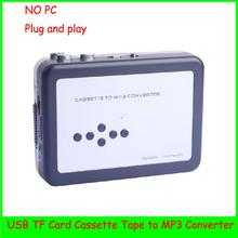 EC007D Plug and play USB Cassette Player and Converter the old cassette tapes to MP3 Converter Capture,directly to Micro SD Card