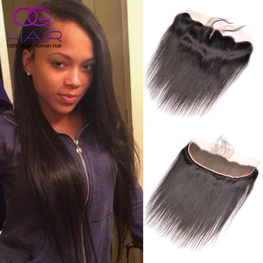 13x4 Brazilian Straight Lace Frontal Closure Brazilian Virgin Hair Straight Lace Frontals Ear to Ear Lace Frontal with Baby Hair<br><br>Aliexpress