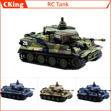 14CH 1:72 RC Tank Toy Great Wall 2117 Remote Control Tank Mini Tiger Battle Tank Toy Best Christmas Gift for Kids(China)