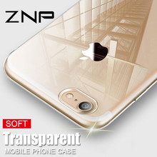 ZNP Transparent TPU Ultra Thin Soft Phone Case For iPhone 6 6s 7 8 Plus X Silicone Cover Cases For iPhone X 8 7 6 Plus 5 5S Case(China)
