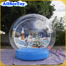 Giant 3m Christmas Inflatable Snow Globe for Decoration, Photo Snow Globe, Inflatable Human Snow Dome Tent for Photography(China)