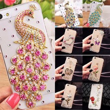 Soft Edge Acrylic mobile phone shell Bling Diamond Luxury Glitter Case For Galaxy J1 2016 /J120/Express 3/AMP 2 Case Cover(China)