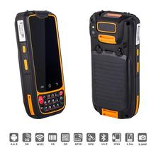 Portable PDA Handheld Terminal with Fingerprint 2D Laser Barcode Android Scanner Portatif 3G Rugged Smartphone RFID UHF 13.56MHZ(China)
