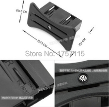 1Piece New style park Card Coin Slot Holder Center Console card holder stickers for VW Golf Mk6 GTI R20 R model Car modification