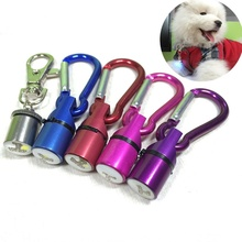 Wholesale Cool Flashing LED Collar Tag for Dog Cat Pet Aluminum Dog Cat Pet Safety LED Light Collar Tag Waterproof