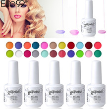 Elite99 Glaze Paint Soak Off UV LED Gel Beauty Personal Care Art Color Shiny Gel Nail Polish 15ML Finger Gel Lacquer Color(China)