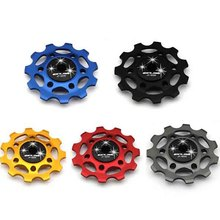 GUB Anodized CNC alloy Rear Derailleur Guide pulley bearing/Ceramic Sealed Bearing Jockey Wheel 11T for Shimano SRAM E0Xc 5color(China)