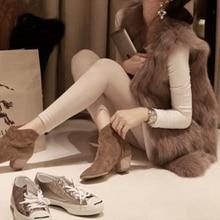 Plus Size S-XXXL Fur Vest Coat Autumn Winter Warm Luxury Faux Fox Faux Fur Coat Jacket Gilet Fashion Black Khaki Women's Vest