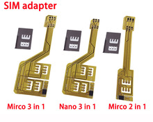 Alborado 2 & 3 in 1 SIM Card Adaptor Morecard For iPhone 6G 6P 6S 6Sp 5 5S 5C 4 4S Extender Nano Micro SIM Adapter for Samsung