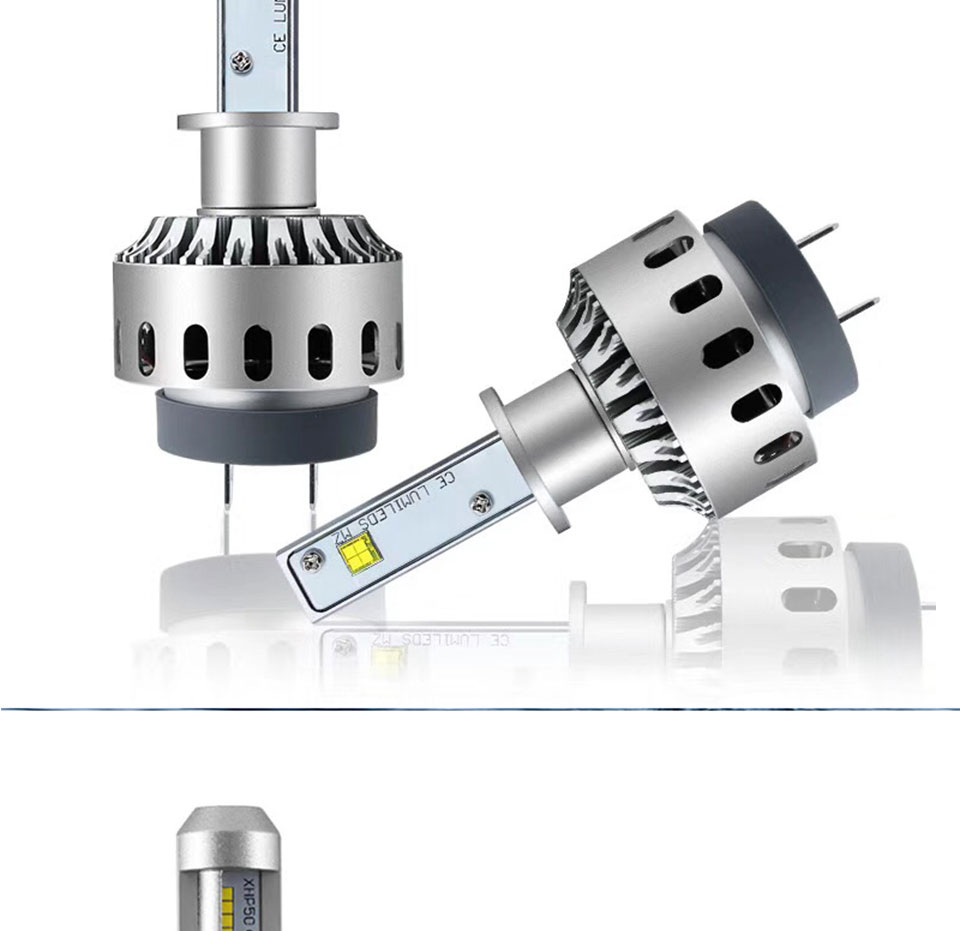 COOLEEON LED Car Lights H1 H4 H7 H11 9005 9006 Auto Headlamp Bulbs 12V 24V Cars Headlights 80W CREE LED Chips 6000K White Lamp (5)