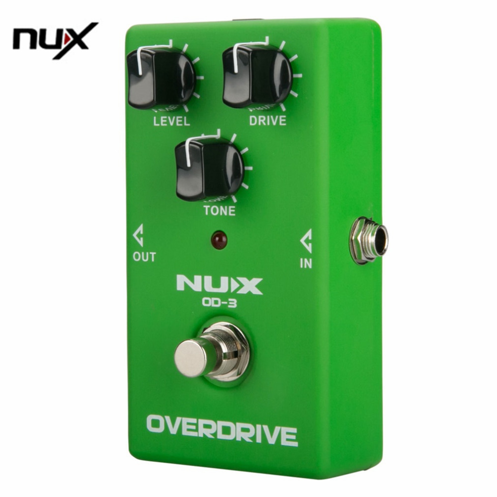 NUX Small Chorus Effect Device Vintage Overdrive Booster Guitar High Power Simulation Chorus Effect Device Machine OD-3 Green<br><br>Aliexpress