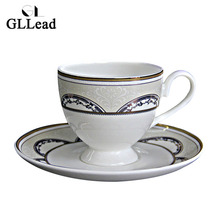 GLLead European Style Bone China Tea Cup And Saucer Office Home Restaurant Afternoon Tea Teacup Porcelain Fashion Coffee Cups(China)