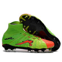 SexeMare Professional Soccer Cleats 2017 Newest High Ankle Mens FG Football Boots Outdoor Traning 3D Honeycomb Mesh Soccer Shoes