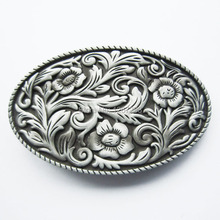 Distribute Belt Buckle Western Cowgirl Flower Vintage Belt Buckle Gurtelschnalle Boucle de ceinture Free Shipping 6pcs Per Lot(China)