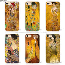 BiNFUL Gustav Klimt Golden Tears Oil night Hard Transparent Phone Case Cover Coque for Apple iPhone 4 4s 5 5s SE 5C 6 6s 7 Pl(China)