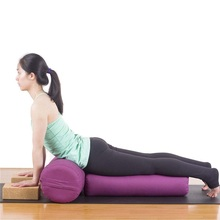 New High Elastic Strong Support Comfortable Yoga Pillow Yoga Bolster Yoga Cushion Pilates roller(China)