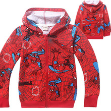 Free shipping kids boys boy spiderman Spring Terry hoodie hoodies sweatshirt childrens jacket coat outerwear 4 pcs/lot