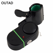 Portable LED Light Electronic Fish Bite Strike Sound Alarm Bell Alert Clip-On Fishing Rod Pole Tackle Wholesale Drop Shipping(China)