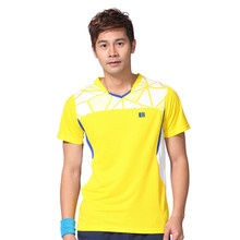 Quick Dry Sportswear Men Badminton Jersey Polyester Material Sports Tee Plus Size Tennis t shirt 11107(China)