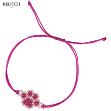 KELITCH Jewelry Attractive Footprint Design Friendship Bracelet Weave Handmade Cute Adjustable Girls Bracelet For Christmas Gift(China)