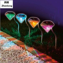 LED colorful solar lights garden lamp RGB Grass lamp Diamon Outdoor Light  garden lights Charging under sunshine villa lights