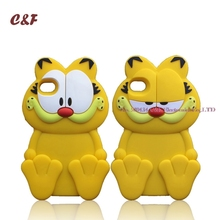 3D Garfield Cat Case for iPhone 5 5S SE 4 4S 6 Plus 6S 7 Cartoon Cute Cat Silicone Cover Phone Back Bag