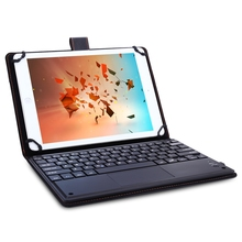 3 in 1 Universal Wireless Bluetooth Keyboard Touch Control Tablet Protective Case with Stander for iOS(China)