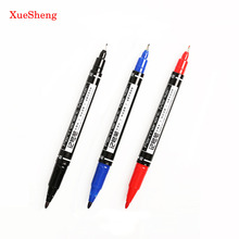 3 PCS Marker Pens Good Waterproof Ink Thin Nib Crude Nib Black New Portable Fine Colour Marker Pen 3 Color Available